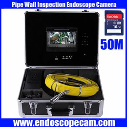 "Wholesale System Pipe Inspection - Drain Pipe Inspection Camera System Equipment With DVR Function 7"" LCD Monitor 20m-50m Night Vision"