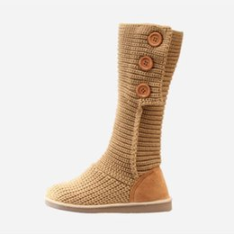 Wholesale woolen shoes - Wholesale- 2015 Hot sale winter women boots soft woolen boots round toe winter women shoes fashion mid-calf boots for women XZ108