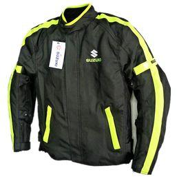 Wholesale Motorcycle Jackets Oxford - Wholesale-New 2017 style suzuki New Arrival Oxford cloth motorcycle jacket racing jacket autorcycle jacket Motor jacke Hot sales green blak