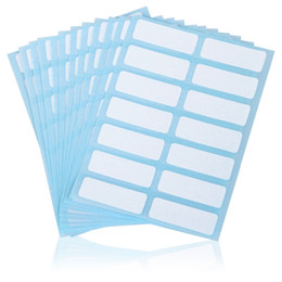 Wholesale names bar - 12sheets pack self adhesive sticky white label writable name stickers Blank post it note label Bar