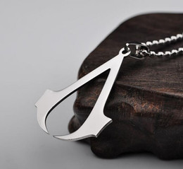 2019 кредо подарок ассасина Assassin Creed Deiss Mond Подвески Ожерелья Золото Серебро Шарм Ожерелье Заявление Ювелирные Изделия Кино Ювелирные Изделия для Мужчин Женщин Кристмас Подарок дешево кредо подарок ассасина