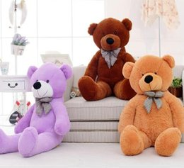 Wholesale Giant Teddy Free - 5 Color 60 80 100 120 160 180 200 300cm size Giant shell giant teddy bear Valentine's Day holiday gift bear Plush Toys Free shipping
