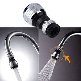 Wholesale Nozzle Head - Wholesale- 360 Degree Water Bubbler Swivel Head Saving Tap Faucet Aerator Connector Diffuser Nozzle Filter Mesh Adapter Free Ship
