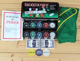 Wholesale Wholesale Bargains - New Hot Super Deal 200 Texas Holdem Poker Set Bargaining Poker Chip Set Blackjack Table Cloth Blinds Dealer Poker Cards