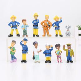 Pompier sam jouets en Ligne-12 pcs / set Fireman Sam Action Figure Jouets Mignon Dessin Animé PVC Modèle Poupées Collection Jouet Pour Enfants Cadeau D'anniversaire 2.5-6cm