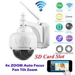 Wholesale Ptz Dome Cameras - OwlCat Full HD 1080p 720P PTZ Wireless IP Speed Dome Camera Wifi Outdoor Security CCTV 2.8-12mm Auto Focus 4X Zoom SD Card ONVIF
