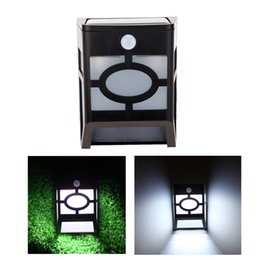 Wholesale Wholesale Solar Pathway Lights - 10LED Solar powered PIR Motion sensor Wall Light Lamp Wall Lamps Solar Rechargeable Mounted for Garden Pathway decoration lighting