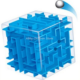 Wholesale Labyrinth Balls - Wholesale- 3D Maze Magic Cube Labyrinth Rolling Ball Toys Puzzle Speed Cube Magicos Educational Intelligence Puzzle Game Cubos Baby kid Toy