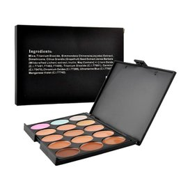 Wholesale Professional Makeup Foundation Palette - Professional 15 Colors Concealer Foundation Contour Face Cream Makeup Palette Pro Tool for Salon Party Wedding Daily