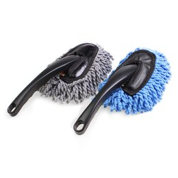Wholesale Towel Windshield - Microfiber Auto Window Cleaner Long Handle Car Wash Brush Dust Car Care Windshield Shine Towel Handy Washable Car Cleaning Tool