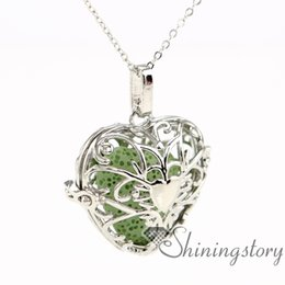 Wholesale Inhaler Glass - heart love valentine's day diffuser pendant wholesale aromatherapy inhaler aromatherapy necklace diffuser glass vials for necklaces openwork
