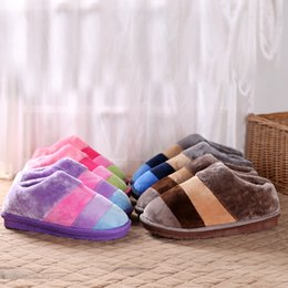 Wholesale Warm Slippers For Women - 2017 The new cotton slippers for men and women lovers household slippers to keep warm shoes homme in the fall and winter