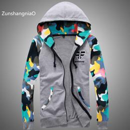 Wholesale Fleece Suit Jacket - Wholesale- 2017 New Fashion Autumn Mens Fleece Hoodies Men Jacket Tracksuits High-quality Spor Suit Men camouflage Slim Fit Men Sweatshirt
