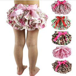 Wholesale White Ruffle Leggings - Baby Ruffled Bloomers Newborn PP Pants Infant Pettiskirt TUTU Underwear Kids Camouflage Underpants Bow Diaper Cover Panties Costumes G160