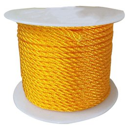 Wholesale Twisted Cord Necklaces - 3mm Golden Yellow Twist Twine Thread Nylon Cord+Jewelry Accessories Macrame Rope Shamballa Bracelet Necklace String 30m roll