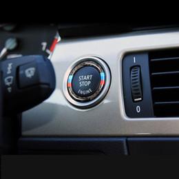 Wholesale Bmw E92 -     Sports Carbon Fiber Car engine start stop button decorative cover trim for BMW 3 series E90 E92 E93 320i 2005-12