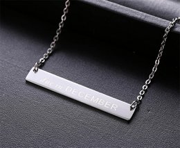 Wholesale Jewelry 12 Titanium - 12 Month Stainless Steel Charm Necklaces Women Fashion Silver Plated Titanium Steel Collarbone Chain Necklace Fine Jewelry A031