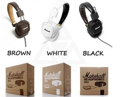 Wholesale headphones bluetooth bass - Marshall Major headphones Clone With Mic Deep Bass DJ Hi-Fi Headphone HiFi Headset Professional DJ Monitor Headphone