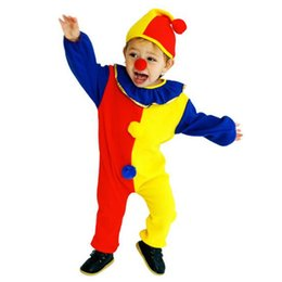 Wholesale Super Man Rompers - ostumes halloween costumes Children Baby Clown Cosplay Costume Jumpsuits & Rompers+Hat+Nose Christmas Day New Year Halloween Super ch...