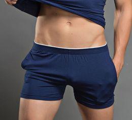 Wholesale Boxer Pajamas - Wholesale-2016 New arrival Men's Clothing Male cotton Fitness Casual Shorts Men Multi colored Boxer Pajamas Arrow Shorts M L XL
