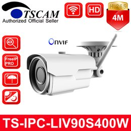 Wholesale Zoom Wifi Security Camera - TSCAM New TS-IPC-LIV90S400W HD 4MP Wifi Wireless Bullet IP Camera 4X Manual Zoom Lens IR H.265 P2P Outdoor CCTV Security Cam