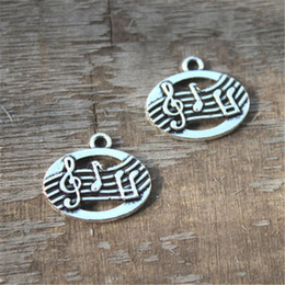 Wholesale 20pcs Musical Charms silver tone Terrific Detailing charms pendants mm x mm x mm