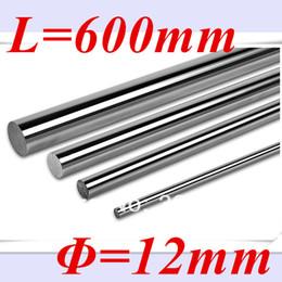 Wholesale 12mm Linear Rail Shaft - Wholesale- New 2pcs 12mm linear shaft 600mm long 12mm linear rod L 600mm linear rail bushing shaft cnc parts