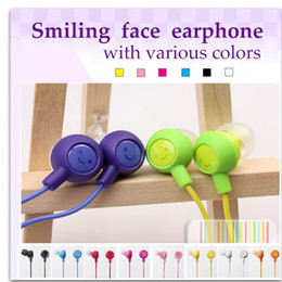 Wholesale Mp4 Colors - Earphone 3.5mm In Ear Wired 10 Colors To Choose Fruit Smile Headphones Headset Earbuds Compatiable With Smartphone For iPad iPhone MP3 MP4