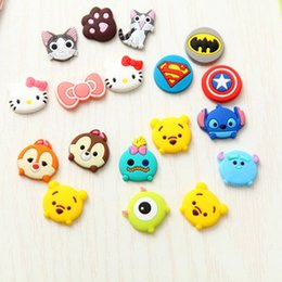 Wholesale Iphone 5c Keyboard - 3pcs Squirrel Series Rubber Cartoon Home Button Sticker for Samsung iPhone 5 5s 5c 6 6s plus Home Keyboard for iPad
