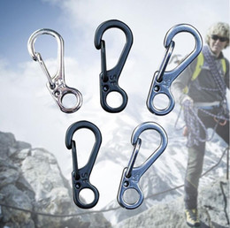 Wholesale Paracord Accessories - Mini SF Carabiner Climbing Spring Buckle Snap Alloy Nickel-free Plating Mini Key Ring Carabiner Bottle Hook Paracord Camping Accessories