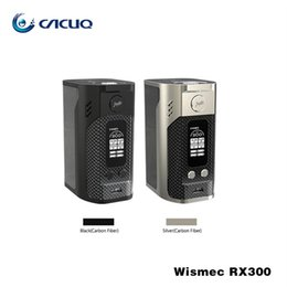 Wholesale Fiber Modes - Wismec RX300 Wismec Reuleaux RX300 TC Box Mod Carbon Fiber TC VW Mode OLED Screen VS RX2 3