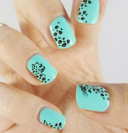 Wholesale Leopard Nail Foil - Wholesale- 1 sheet Animal Leopard Nail Art Stickers Water Transfer Foil Manicure Decal for Nail Art Tips DIY Styling Beauty Tools BLE581