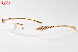 Wholesale Sunglasses Spot - 2017 clear lens glasses men designer buffalo horn glasses 2017 brand spot leopard frames panther women sunglasses with boxes eyewear