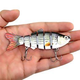 Pesca Wobbler Lifelike señuelo de la pesca 6 segmentos Swimbait Crankbait duro cebo 10 cm 18 g señuelos artificiales aparejos de pesca 2508053 desde fabricantes