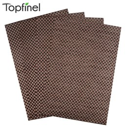 Wholesale Linen Coasters Wholesale - Wholesale-Top Finel 2016 Set of 4 PVC Cross Weave Placemats for Dining Table Runner Linen Place Mat in Kitchen Accessories Cup Coaster Pad