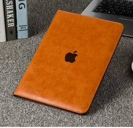 Wholesale black leather folio case - Litchi Pattern Flip Leather Smart Case Cover for iPad air1 air2 With Stand Holder Folding Folio for ipad Mini 1 2 3 4 9.7 inch iPad Pro