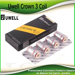 Wholesale Genuine Original - Original Uwell Crown 3 Crown III Mini Coil 0.25ohm 0.4ohm 0.5ohm Replacement SUS316 Parallel Coils Head For Crown III Tank 100% Genuine