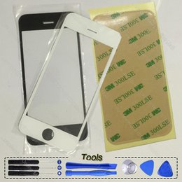 Wholesale iphone 4s front panel - OEM Front Lens Outer Touch Screen Glass Panel Digitizer For iPhone 4s 4 4G 5s 5c Se White Black Free tools Repair Phone Parts