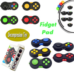 Wholesale Free Big Boxes - Fidget Pad Second Generation Fidget Cube Fidget Hand Shank Adults Kids Novelty Anti-Anxiety Decompression Toys With Retail Box Free Ship