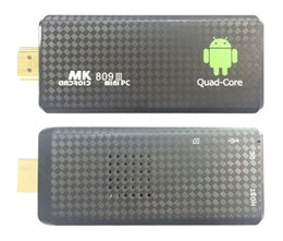 Wholesale Memory Card Android - 1PCS MK809 Quad Core TV Box Stick Media Player Google Android 5.1 RK3229 2GB RAM 8GB WIFI Bluetooth 1080P HDMI Smart TV Dongle