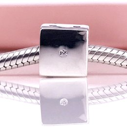 Wholesale Dice Bracelets - Authentic 925 Sterling Silver Dice silver charm with cubic zirconia Charm Fit DIY Pandora Bracelet And Necklace 791269CZ