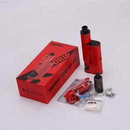 Wholesale White Thread China - China wholesale 2017 new premium products vape Kanger Dripbox Starter Kit mod e cigarette 60W with 510 thread wax atomizer online on sale