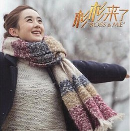Wholesale Long Winter Warm Scarf Knit - Wholesale-A401 warm winter scarves Women's Long thick warm wool scarf knitted scarf