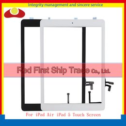 Wholesale Ipad Digitizer Adhesive Button - High Quality For Ipad Air Ipad 5 Touch Screen Digitizer Sensor+ Home Button + Flex Adhesive Assembly Glass Panel White Black