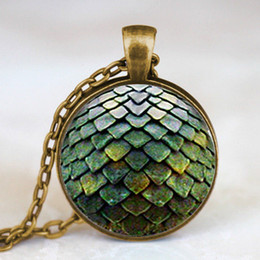 Wholesale Dragon Coin Charm - Wholesale-New Steampunk Game of Thrones Dragon Egg Pendant Necklace dr doctor who 1pcs lot chain mens toy vintage 2017 charming necklaces