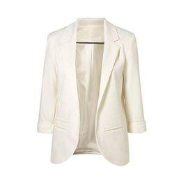 Wholesale Women Stylish Blazers - S5Q Women Stylish Candy Colors Suit Jacket Commuter Slim Suit Collar Small Suits AAAGCL