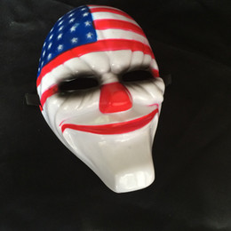 Wholesale usa halloween costumes - Venetian Masquerade Creepy Clown USA Flag Mask for Halloween Masquerade Party Costume Ball One Size Suitable for Most