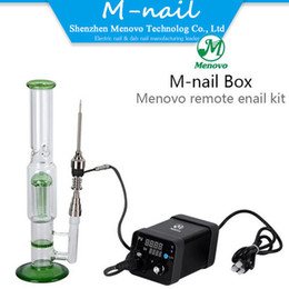 Wholesale Pipe Electric - Portable E Nail Electric Dab Rig Wax Dnail Kit Electronic PID TC Control Dabber Box Set Dry Herb Vaporizer for Glass Bongs Water Pipe