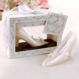 Wholesale Wholesale White Wedding Shoe - High-Heeled Shoes Small Candles Wedding Style Design Personalized Candles Party Favors Decoration Wedding Supplies Candle Impressions