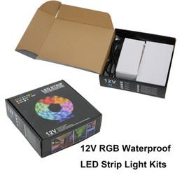 Wholesale 44 Key Rgb Controller - 5M 300 Leds RGB led 5050 strip lights Set + 44 keys ir remote controller + power supply adapter